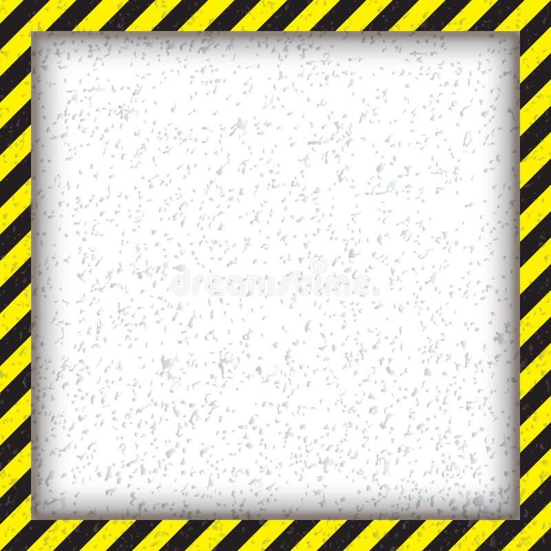 Abstrakcjonistyczna geometryczna kwadrat rama z diagonalny żółty i czarnym, również zwrócić corel ilustracji wektora fotografia stock