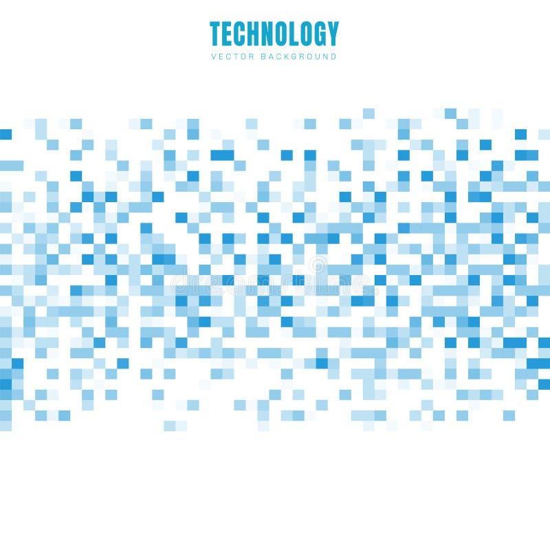 Abstrakcjonistyczna geometryczna kwadrat tekstura z kopii przestrzeni? i deseniowy t?o bia?ych i b??kitnych Technologia dane styl ilustracji