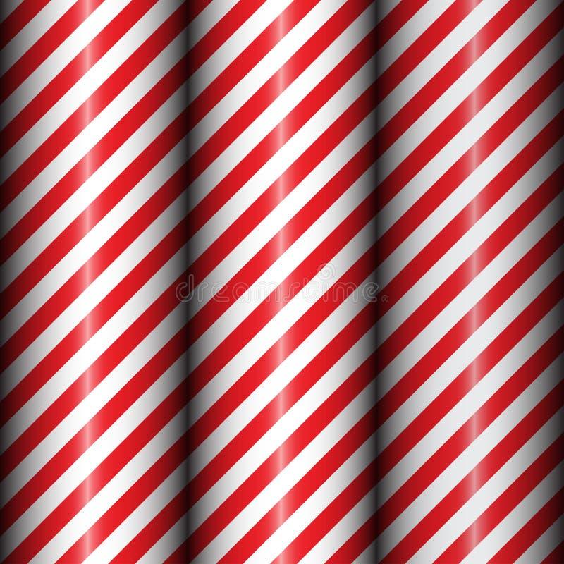 Abstrakcjonistyczna geometryczna przekątna paskował wzór z czerwonych i bielu lampasami zdjęcia stock