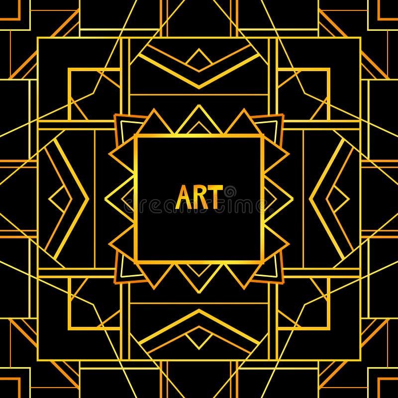 Abstrakcjonistyczna geometryczna sztuka deseniujący tło royalty ilustracja