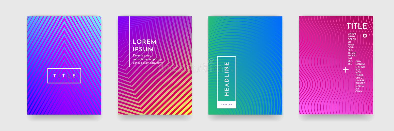 Abstrakcjonistyczna gradientowa koloru wzoru tekstura dla książkowego okładkowego szablonu wektoru setu