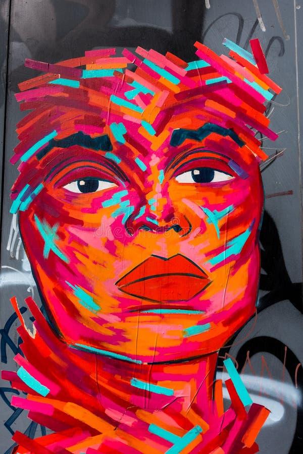 Abstrakcjonistyczna graffiti twarz fotografia royalty free