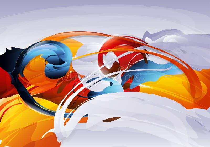 abstrakcjonistyczna grafika ilustracja wektor