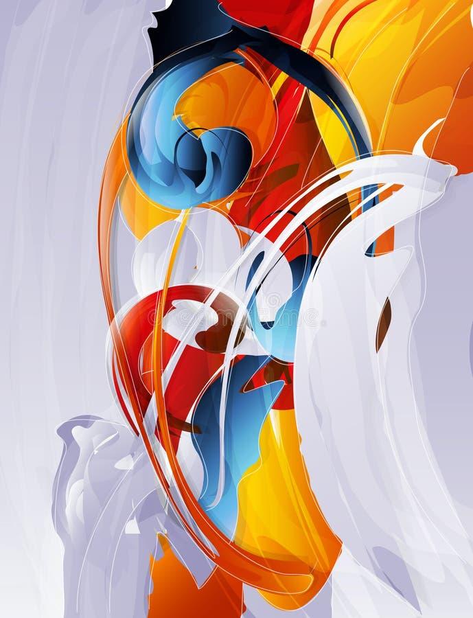 abstrakcjonistyczna grafika ilustracji
