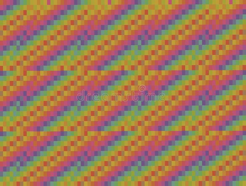 Abstrakcjonistyczna grafika barwiący tło kwadraty brogujący w diagonalnych sieciach trzy kawałka royalty ilustracja