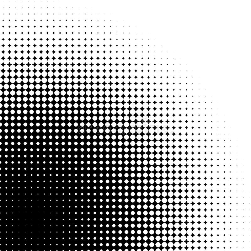 Abstrakcjonistyczna grafika: Halftone element robić 4 punktów gwiazdy ilustracja wektor