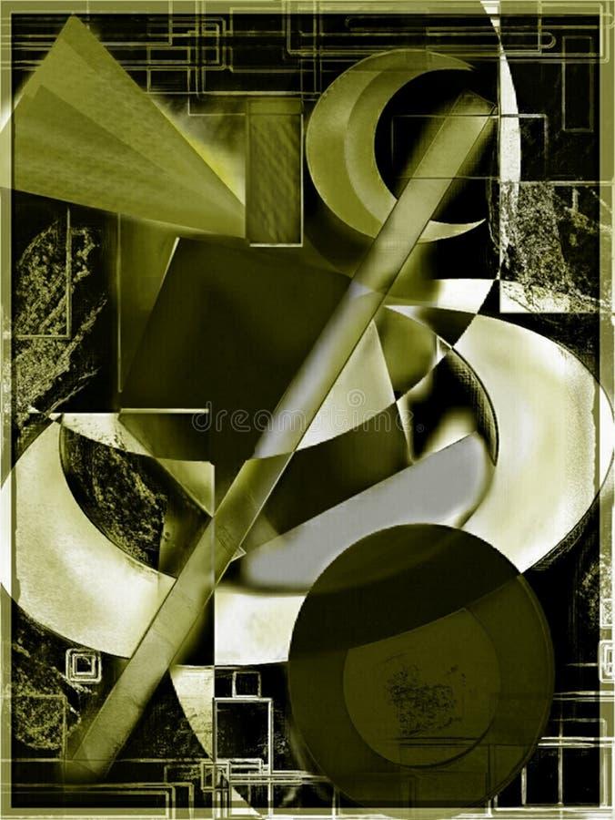 Abstrakcjonistyczna grafika, maluje ilustracji