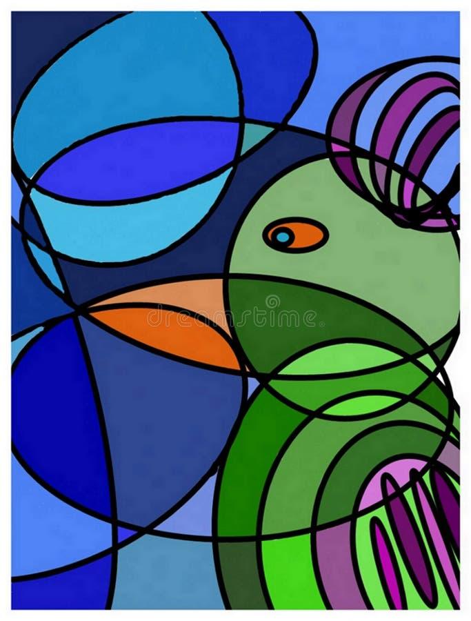 Abstrakcjonistyczna grafika, obraz, kolorowy royalty ilustracja