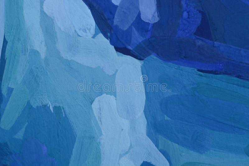 Abstrakcjonistyczna guasz farby tekstura na kanwie, tło Obraz olejny na kanwie ilustracja wektor