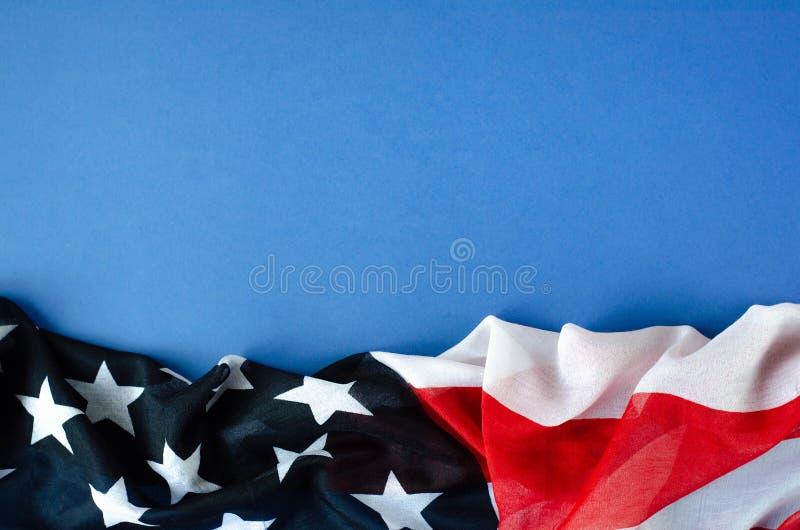Abstrakcjonistyczna horyzontalna fotografia flaga amerykańska obrazy stock