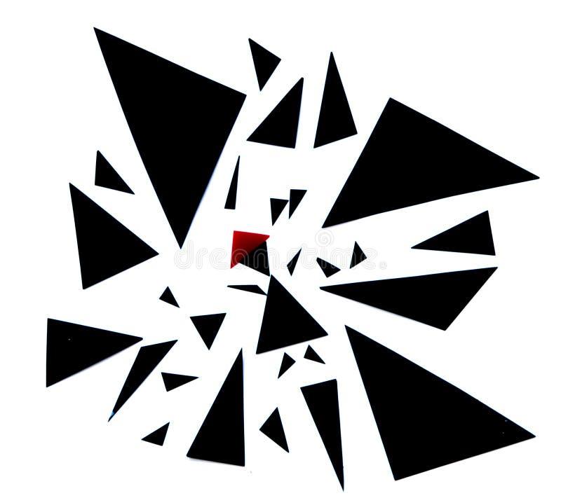 Abstrakcjonistyczna ilustracja czerwona jeździeckiego kapiszonu opowieść zdjęcie stock