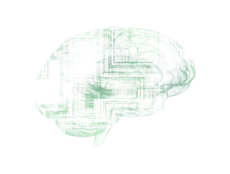 Abstrakcjonistyczna ilustracja elektronicznego obwodu deski m ilustracji