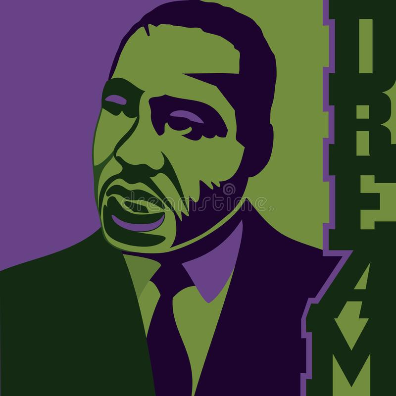 Abstrakcjonistyczna ilustracja sen dla MLK dnia ilustracja wektor