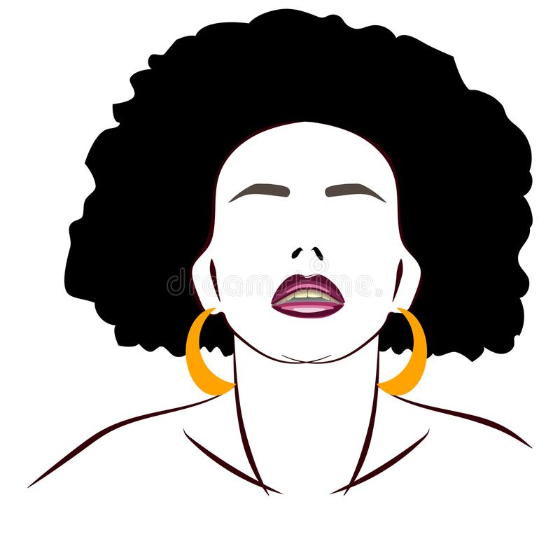 Abstrakcjonistyczna ilustracja sylwetek dziewczyn fryzury logo royalty ilustracja
