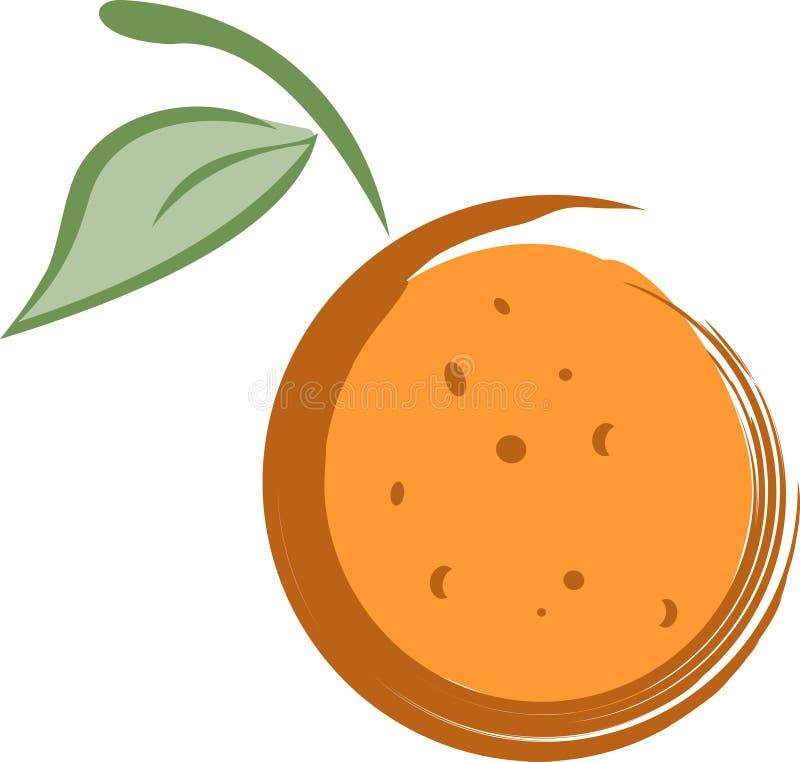 abstrakcjonistyczna ilustracyjna pomarańcze ilustracja wektor