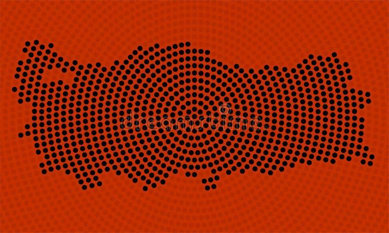 Abstrakcjonistyczna Indycza mapa promieniowe kropki, halftone poj?cie royalty ilustracja