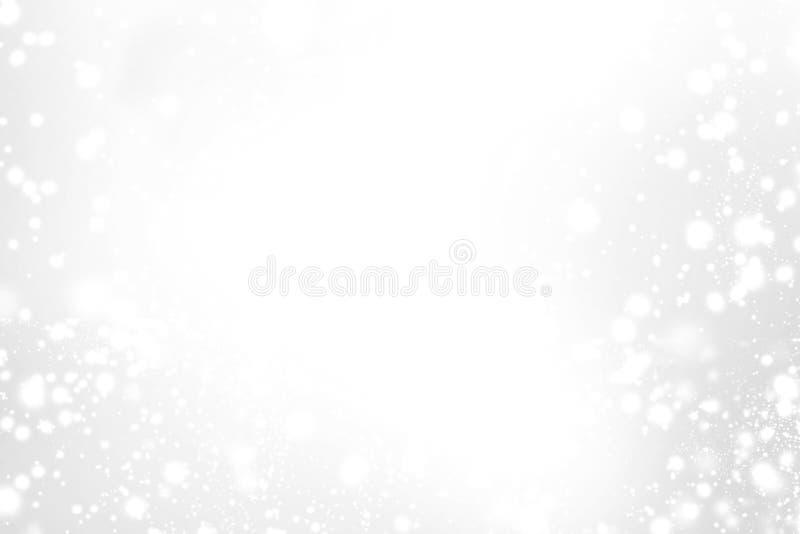 Abstrakcjonistyczna Iskrzasta Wesoło kartka bożonarodzeniowa z bielem i srebra li obrazy royalty free