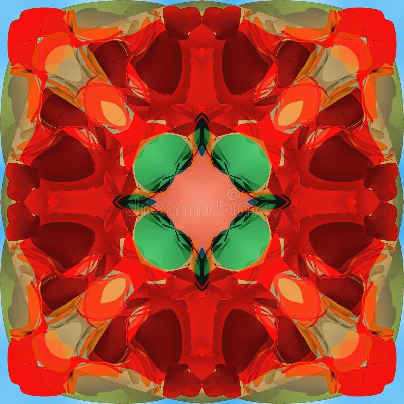 Abstrakcjonistyczna kalejdoskopowa bezszwowa kolorowa deseniowa tło tekstura zdjęcia stock