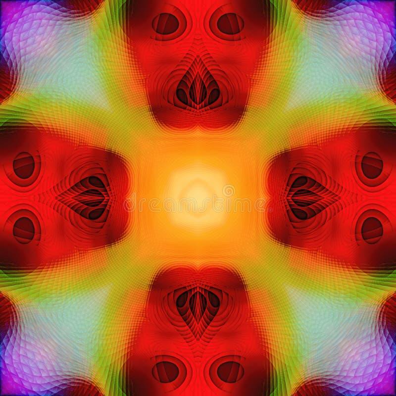 Abstrakcjonistyczna kalejdoskopowa bezszwowa kolorowa deseniowa tło tekstura fotografia royalty free