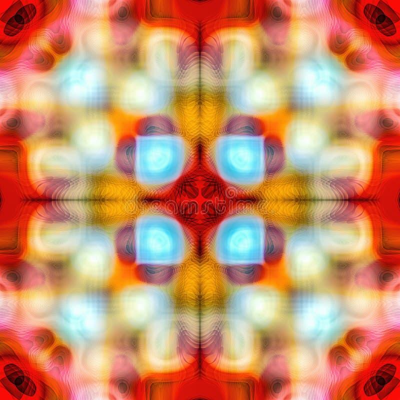 Abstrakcjonistyczna kalejdoskopowa bezszwowa kolorowa deseniowa tło tekstura obraz royalty free