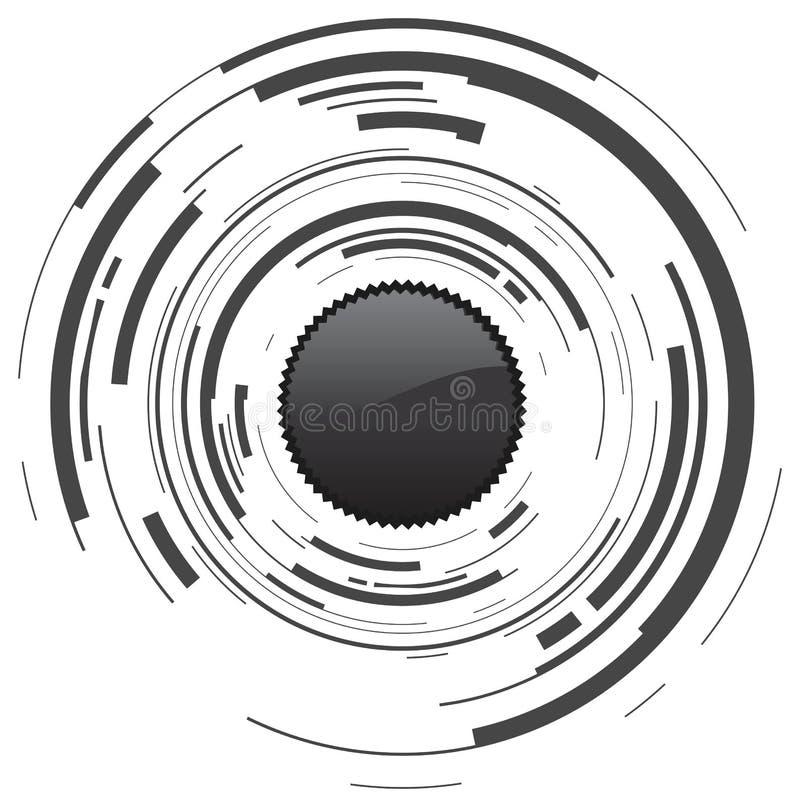 abstrakcjonistyczna kamera royalty ilustracja