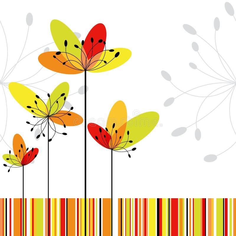 abstrakcjonistyczna karciana kwiatu powitania wiosna royalty ilustracja