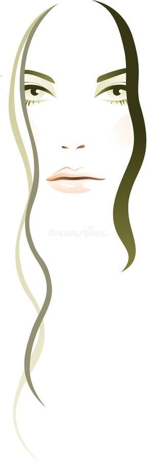 abstrakcjonistyczna kobieta royalty ilustracja