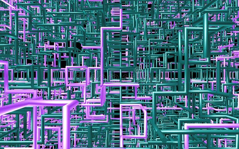 Abstrakcjonistyczna kolor tubka lubi na stałym tle ilustracji