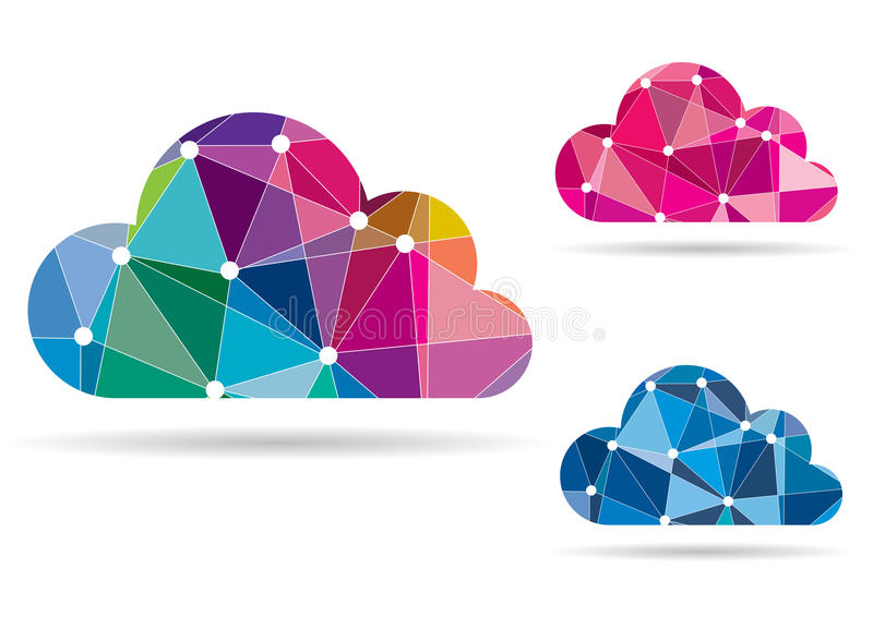 Abstrakcjonistyczna Kolorowa chmura - wektor ilustracja wektor