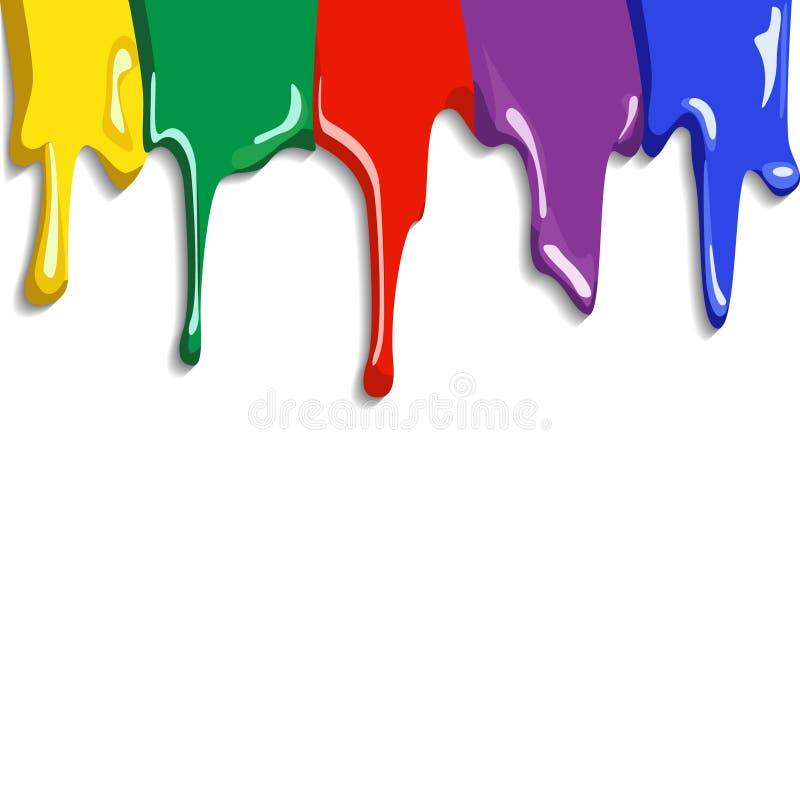 Abstrakcjonistyczna Kolorowa farba Splat ilustracja wektor