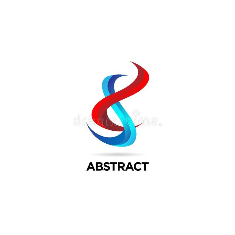 Abstrakcjonistyczna Kolorowa Helix DNA logo znaka symbolu ikona ilustracja wektor