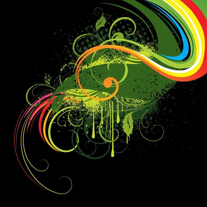 abstrakcjonistyczna kolorowa ilustracja ilustracja wektor