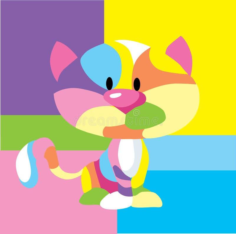 Abstrakcjonistyczna Kolorowa kota wystrzału sztuki rama - Wektorowa ilustracja royalty ilustracja