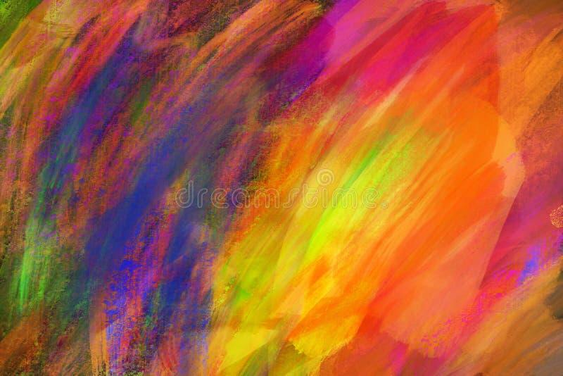 Abstrakcjonistyczna kolorowa nafcianej farby tekstura na kanwie, t?o obrazy royalty free