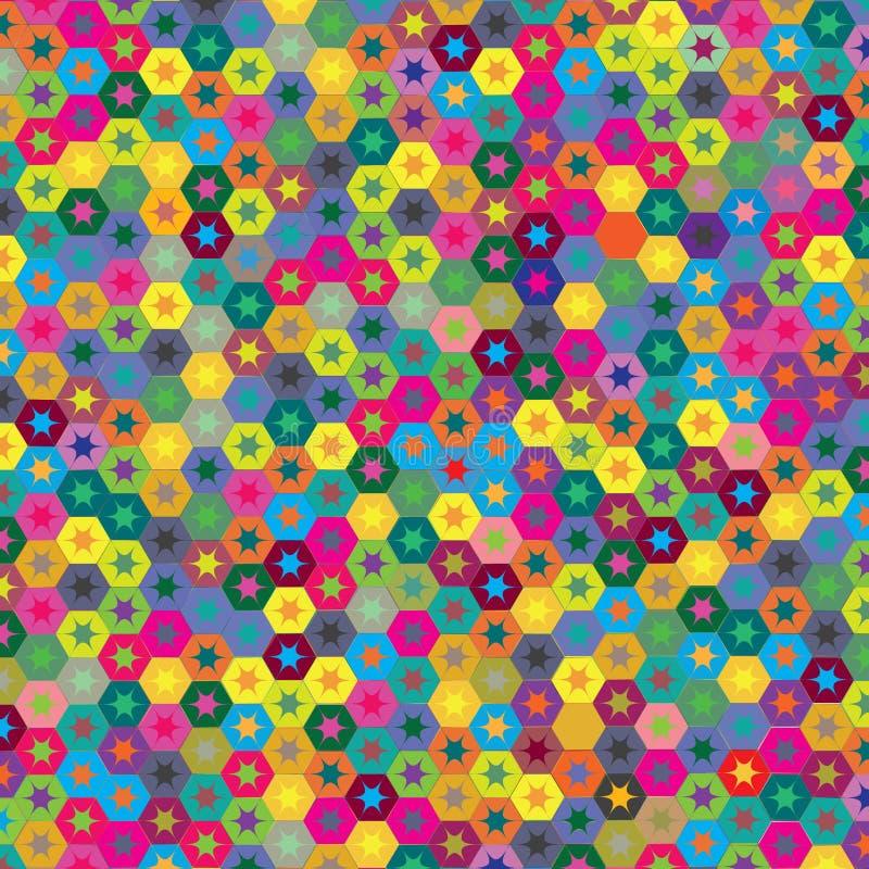 Abstrakcjonistyczna Kolorowa przyjęcie urodzinowe gwiazd tła wzoru tekstura ilustracji