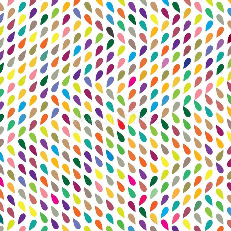 Abstrakcjonistyczna Kolorowa Raindrops tkaniny tła wzoru tekstura royalty ilustracja