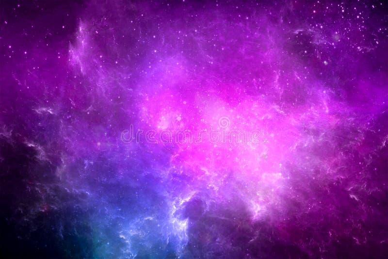 Abstrakcjonistyczna Kolorowa Rozjarzona galaktyka w Astronautycznym tle ilustracji