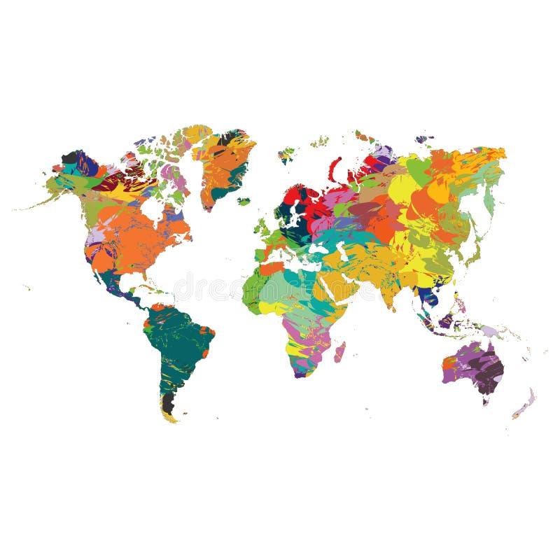 Abstrakcjonistyczna Kolorowa widmo sztuki obrazu palety deski słowa mapy tła wzoru tekstura ilustracji