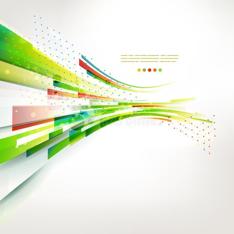 Abstrakcjonistyczna kolorowa wiosny fala, żywa linii ilustracja ilustracji