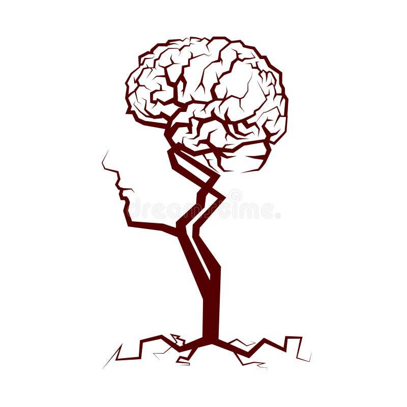Abstrakcjonistyczna korona drzewo ilustracja wektor