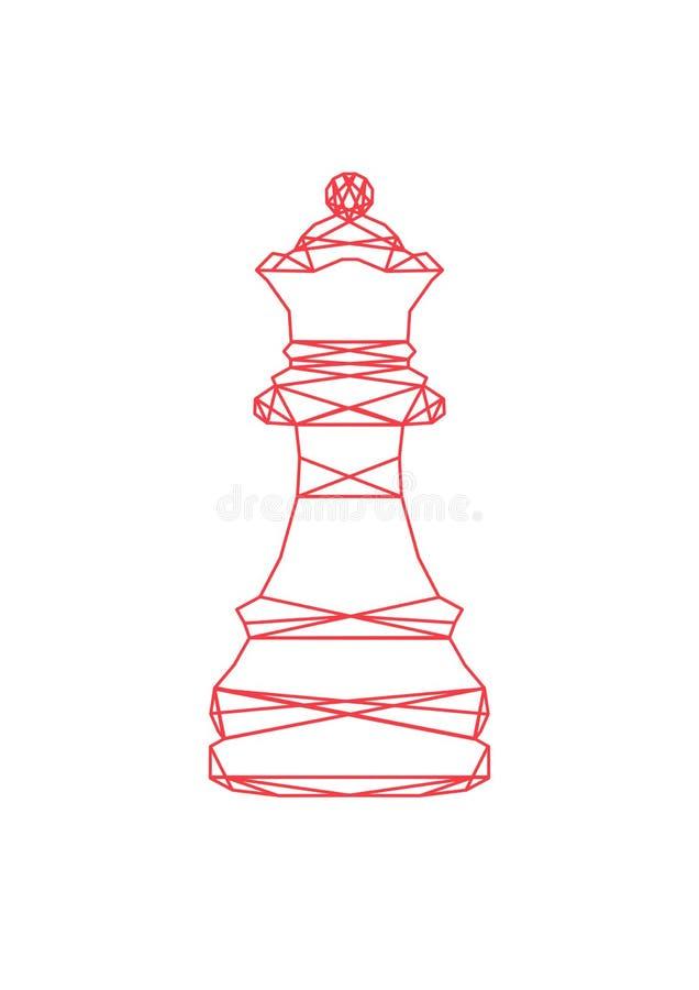 Abstrakcjonistyczna królowa szachy zdjęcia stock
