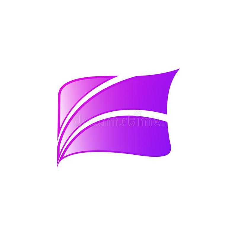 Abstrakcjonistyczna kreskowego kształta kwadrata ikona Wektorowy geometryczny kształt ilustracji