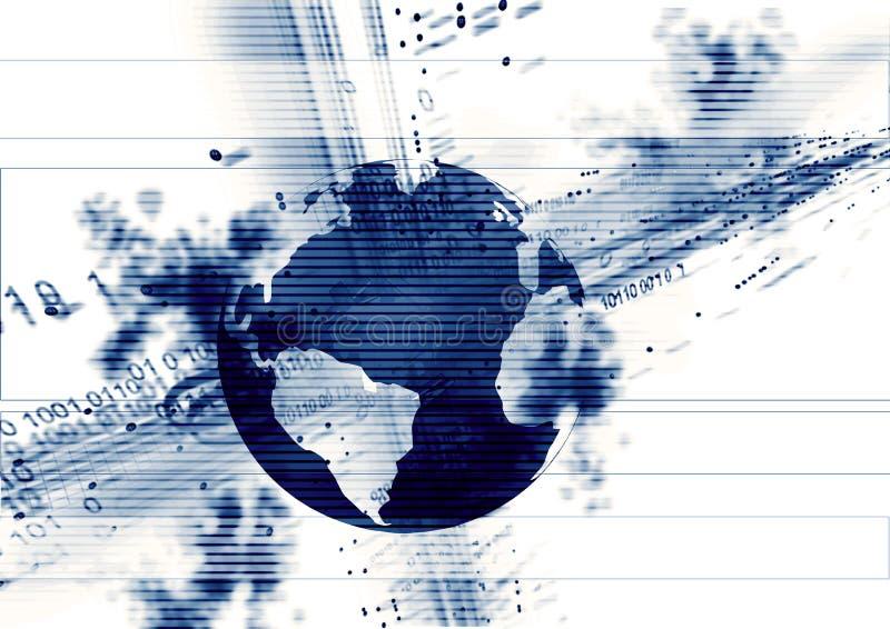 abstrakcjonistyczna kula ziemska ilustracji