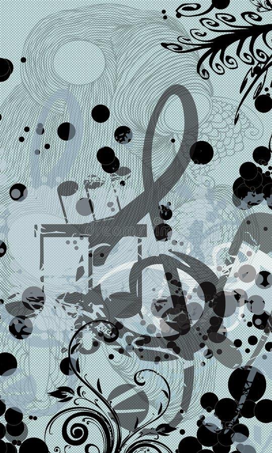 abstrakcjonistyczna kwiecista muzyka ilustracji