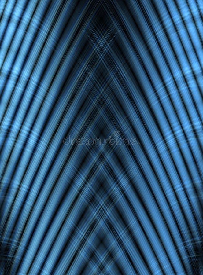 Abstrakcjonistyczna lampas niebieskiej linii krzywa royalty ilustracja