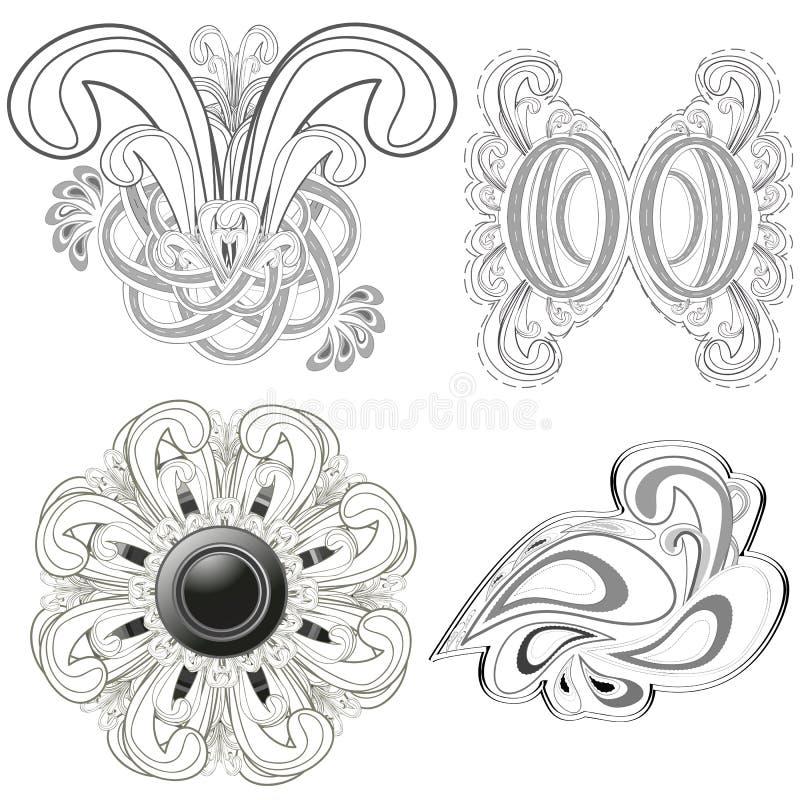 abstrakcjonistyczna linia royalty ilustracja