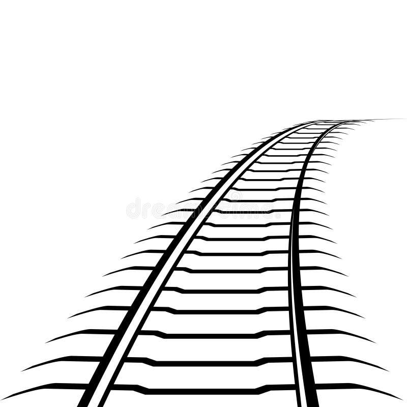 Abstrakcjonistyczna linia kolejowa ilustracji