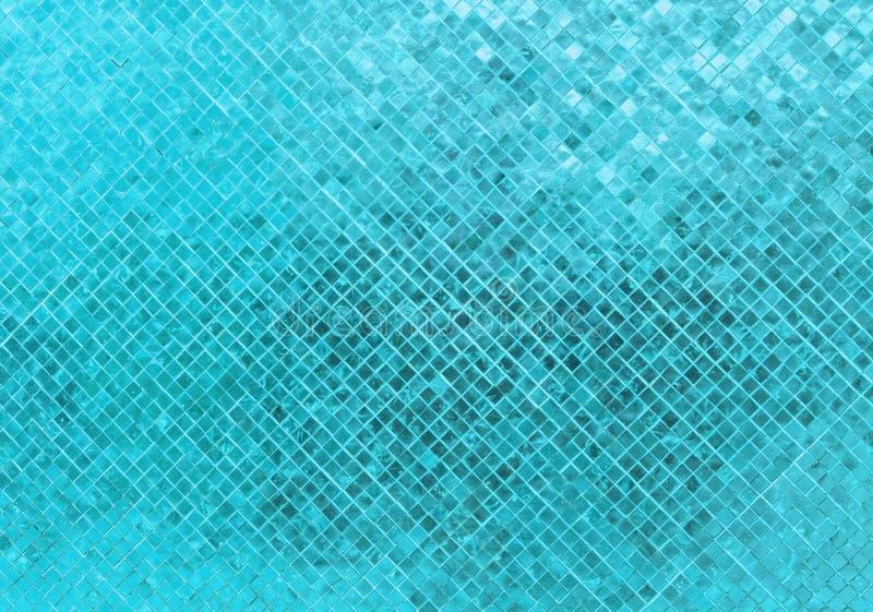 Abstrakcjonistyczna Luksusowa Błyszcząca Błękitna brzmienie prostokąta płytki szkła wzoru mozaiki tła tekstura fotografia stock