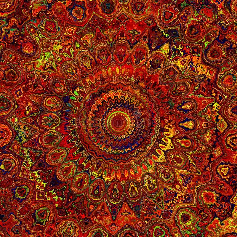 Abstrakcjonistyczna mandala sztuka obrazy stock