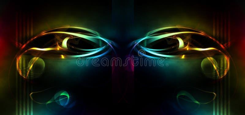 abstrakcjonistyczna maska ilustracji